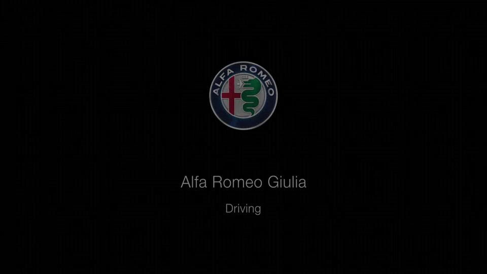 Footage Alfa Romeo Giulia Quadrifoglio driving on road