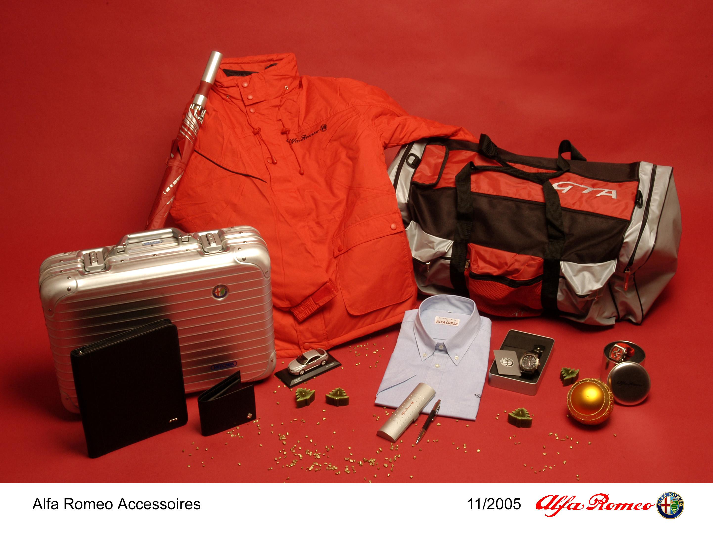 weihnachten 2005 kann kommen - die neuen alfa romeo accessoires sind