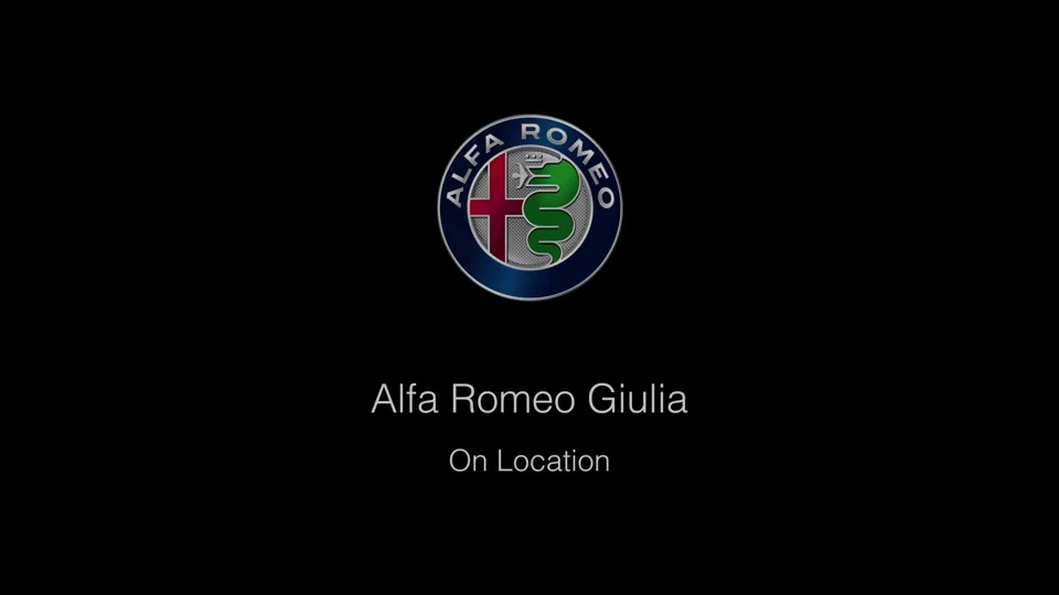 Footage Alfa Romeo Giulia on location
