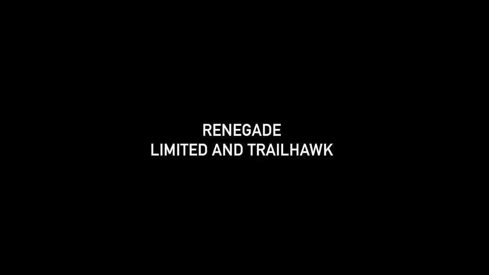 Footage Renegade MY19 Limited and Trailhawk