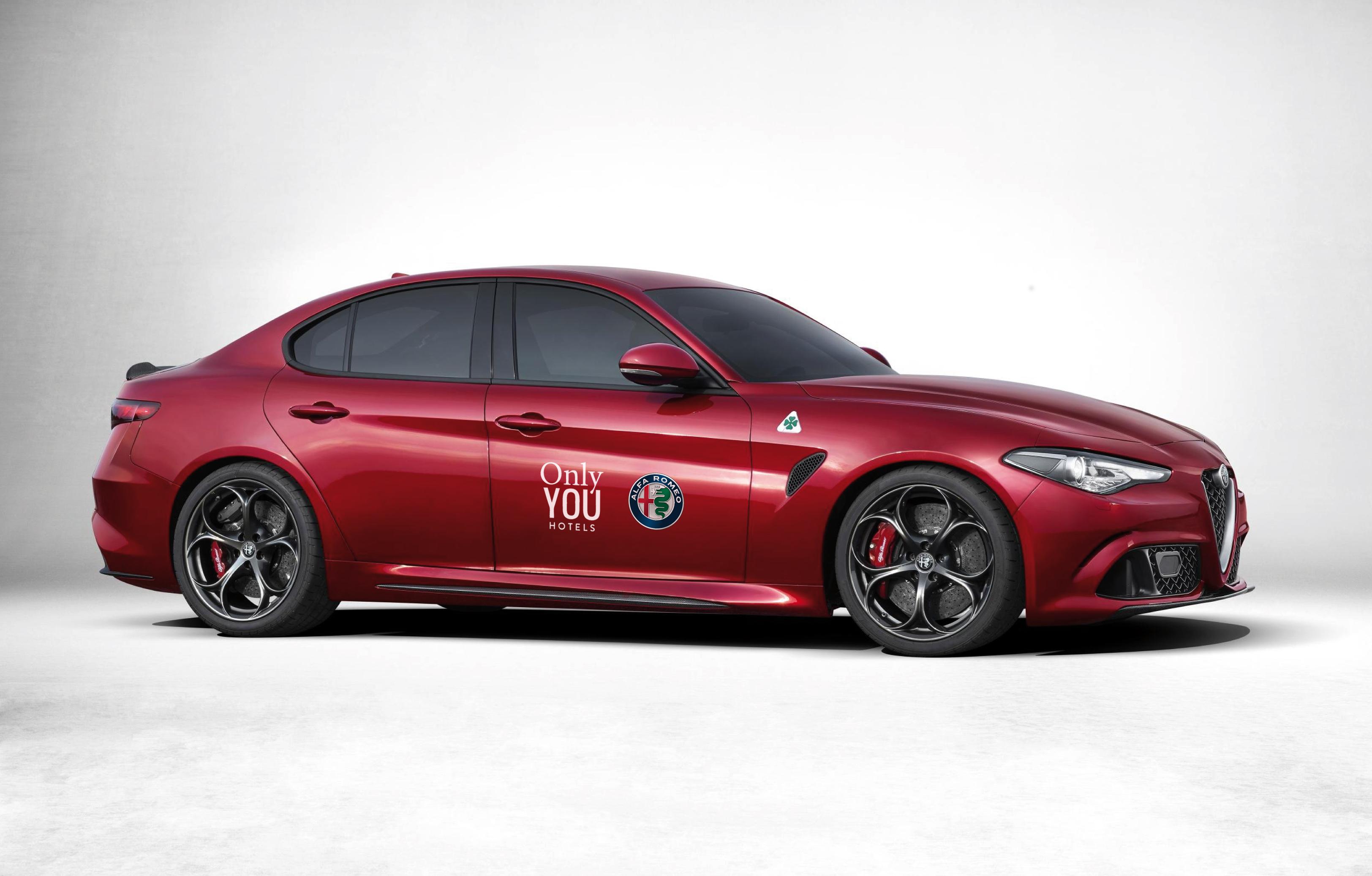 Alfa Romeo Con Su Flamante Giulia Y Only You Hotels Se