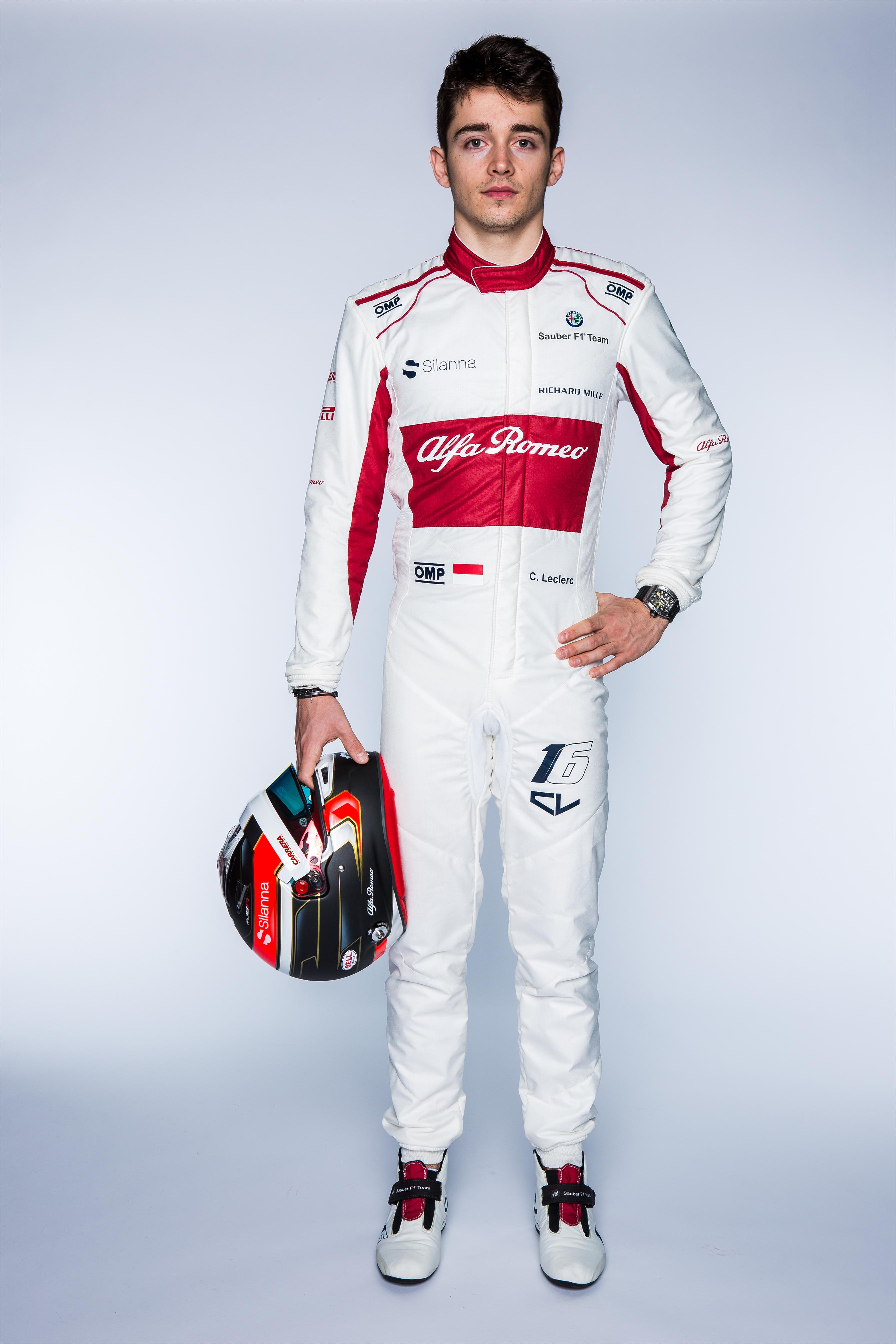 Alfa Romeo Sauber Lec Full Body Frontal With Helmet Arm Up Autograph