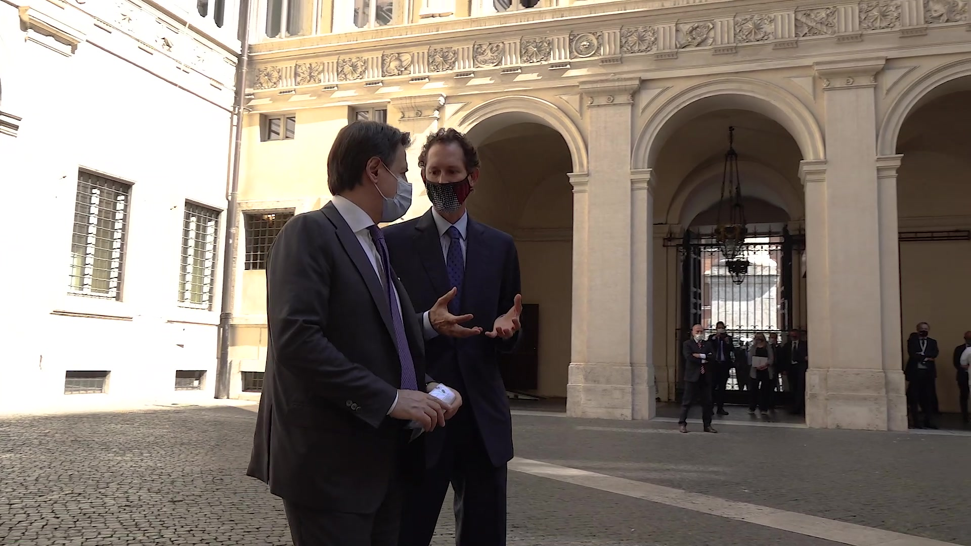 Presentation of the New Fiat 500 to the Italian Prime Minister, Giuseppe Conte