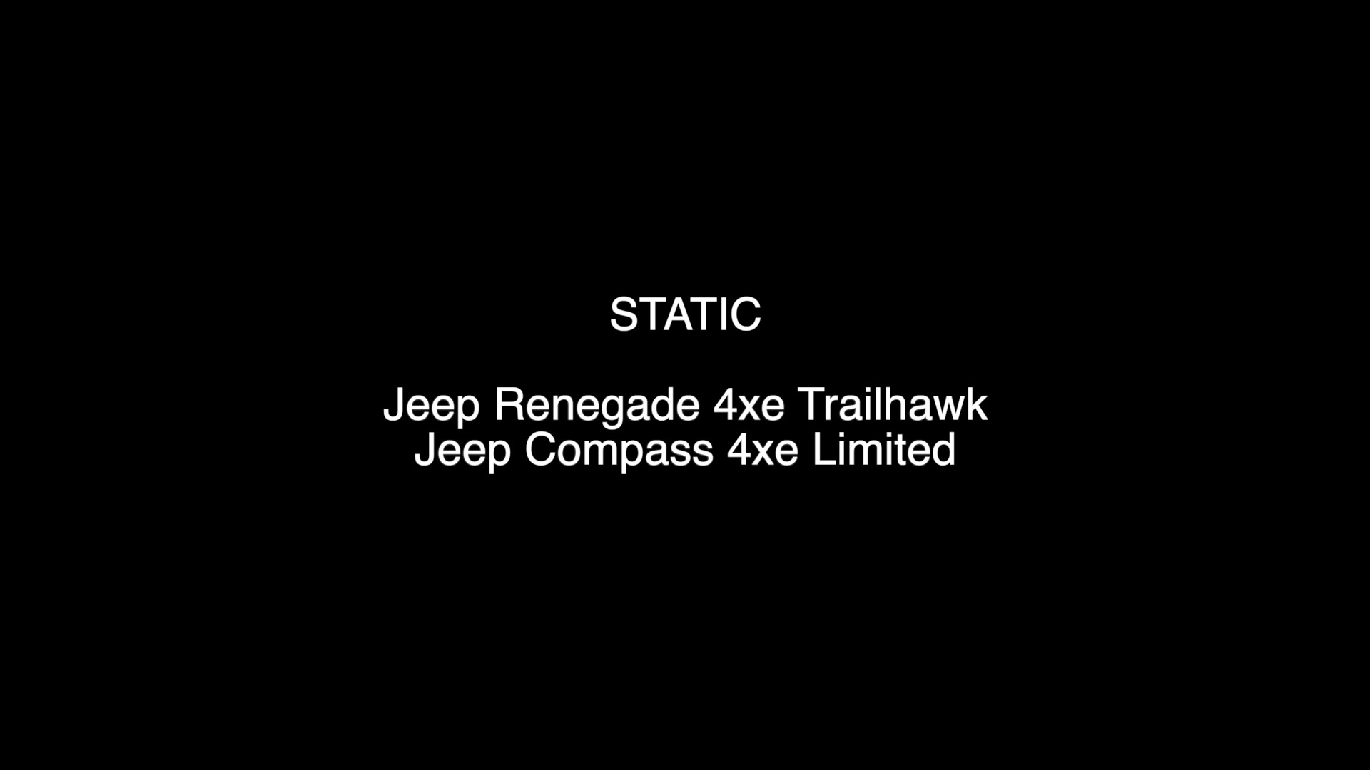Renegade 4xe and Compass 4xe - Footage