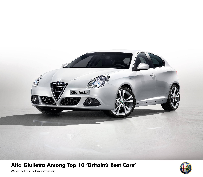 alfa giulietta among top 10 britain s best cars press fiat group automobiles press. Black Bedroom Furniture Sets. Home Design Ideas