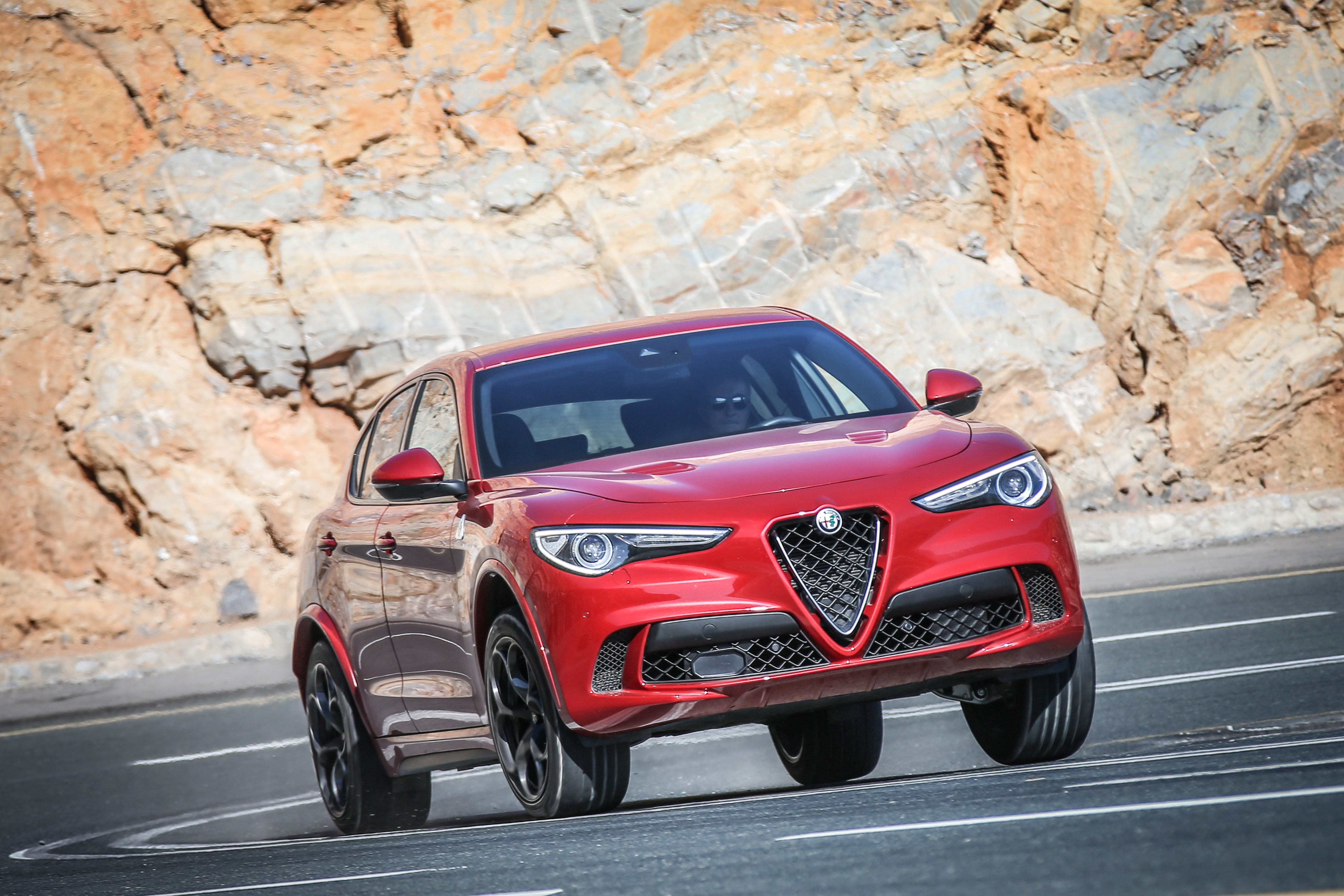 Alfa Romeo Stelvio Quadrifoglio International Media Drive Press Rear End Images